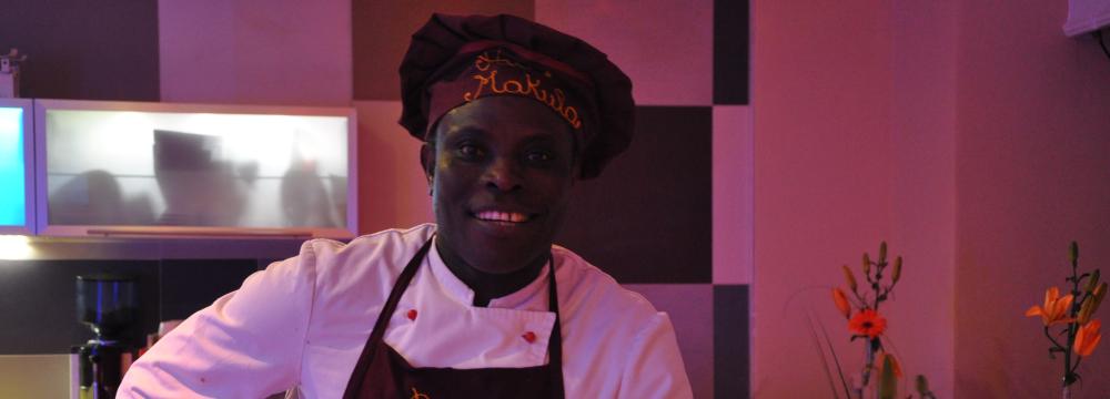 Robert Ahiagba besitzer des afrikanisches restaurant münchen
